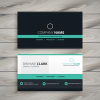 dark business card modern design template vector design illustra