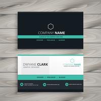 dark business card modern design template vector design illustra