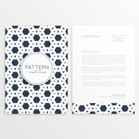letterhead template with abstract hexagon pattern