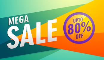 mega sale stylish modern marketing discount banner