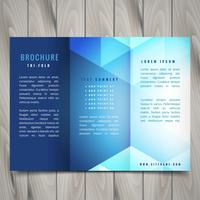 trifold polygonal shapes brochure design