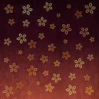 Musterhintergrunddesign der stilvollen Blume goldene