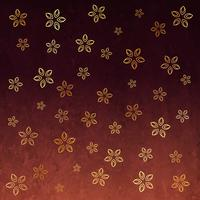 stylish flower golden pattern background design