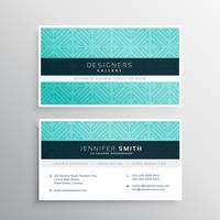 business card template in blue pattern
