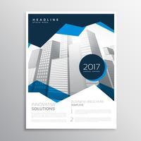 apresentação de modelo de brochura de relatório anual de negócios azul