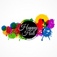 happy holi with colorful splash