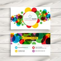 colorful circles business card template vector design illustrati