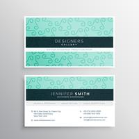 light blue business card in clean style