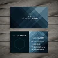 dark business card presentation template vector design illustrat