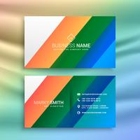 abstract color stripes business card template design