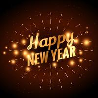 gyllene lyckliga nyårsfesten