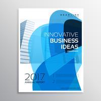 kreativ företagsbroschyr eller broschyrmalldesign med abstr