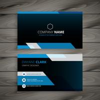 dark blue business card vector design illustration