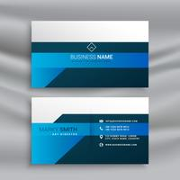 clean elegant business card template in blue theme