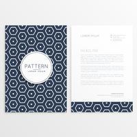 design de papel timbrado elegante com padrão hexagonal