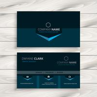 dark blue business card template vector design illustration