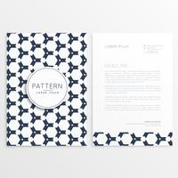 letterhead design with pattern as backdrop