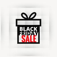black friday sale design in gift box
