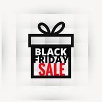 Diseño de venta de viernes negro en caja de regalo