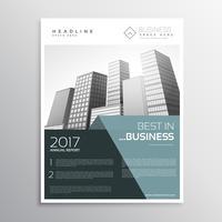 Increíble plantilla de diseño de folleto de negocios en tamaño a4