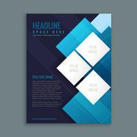blue business brochure presentation template