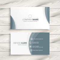 clean minimal business card template vector design illustration