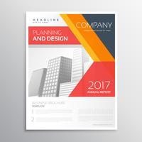 company flyer design with colorful geometric shapes