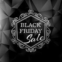 svart fredag försäljning i vintage blommig stil
