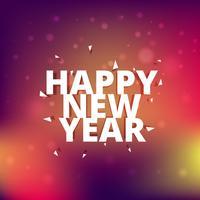 Gott nytt årskort med konfetti
