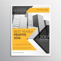 gult årsrapport broschyr mall broschyr presentation