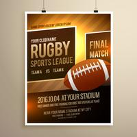 rugby sports flyer design template