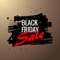 étiquette de vente vendredi noir élégant dans la conception de style grunge