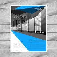 creatieve blauwe brochure folder sjabloon voor uw bedrijf in abstr