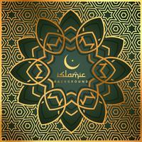 islamisk form bakgrund med guldmönster