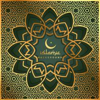islamic shape background with golden pattern