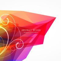 Fondo abstracto colorido con elemento floral