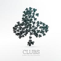 Spielkarten Clubs Formen Hintergrund