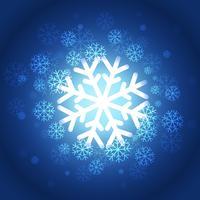 hermoso fondo de copos de nieve