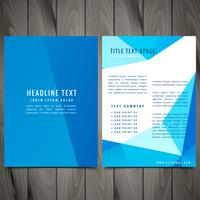 clean modern business brochure leaflet design