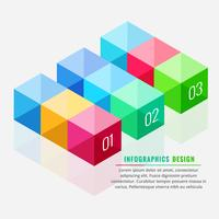 colorful 3d boxes infograph