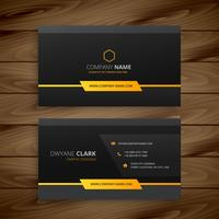 dark black business card vector design illustration