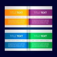 banners criativos no estilo infográfico