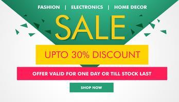 moderne verkoop en coupons voucher ontwerpsjabloon gemaakt met geomet