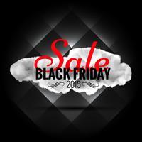 Banner de venta de viernes negro en fondo oscuro