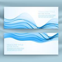 conjunto de plantillas de banners azules para el tema de negocios