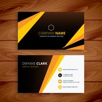 kreative gelbe und schwarze Visitenkarte. Geschäftsvektordesign