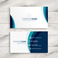 blue wave business card design template vector design illustrati