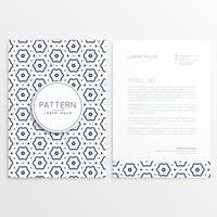 business letterhead design with pattern background