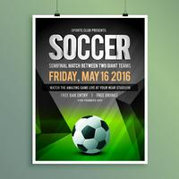 soccer game flyer template design