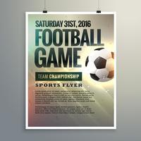 voetbal evenement flyer ontwerp met toernooi details
